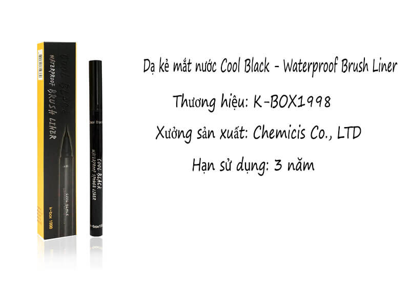 dạ kẻ mắt cool black - waterproof brush liner